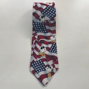 Peanuts Red White and Cool tie.